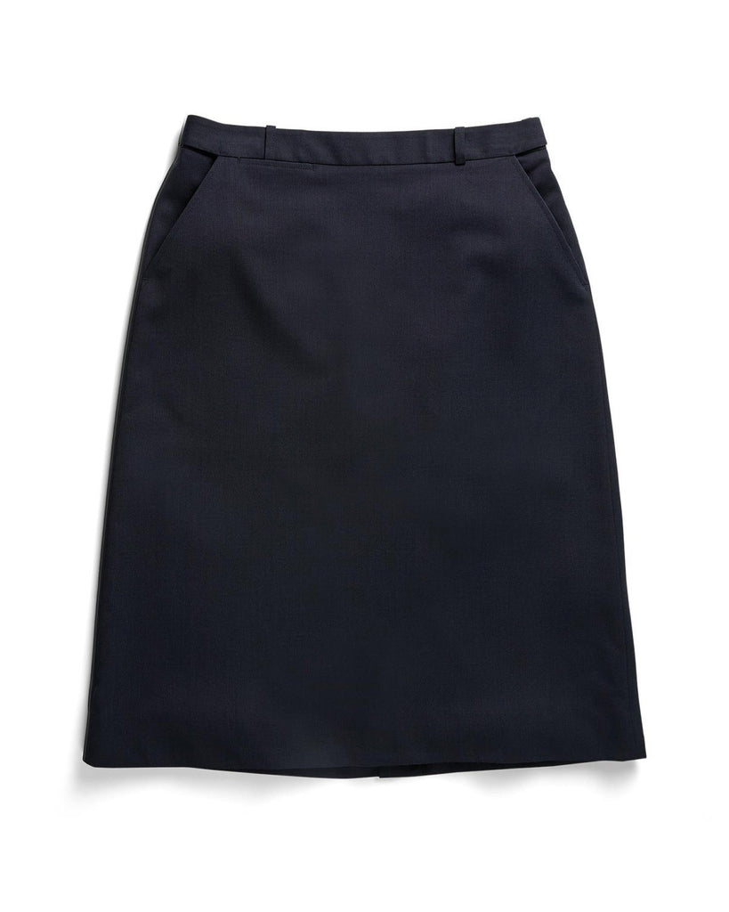 Gloweave-Gloweave Ladies 'A' Line Skirt-Navy / 6-Corporate Apparel Online - 4