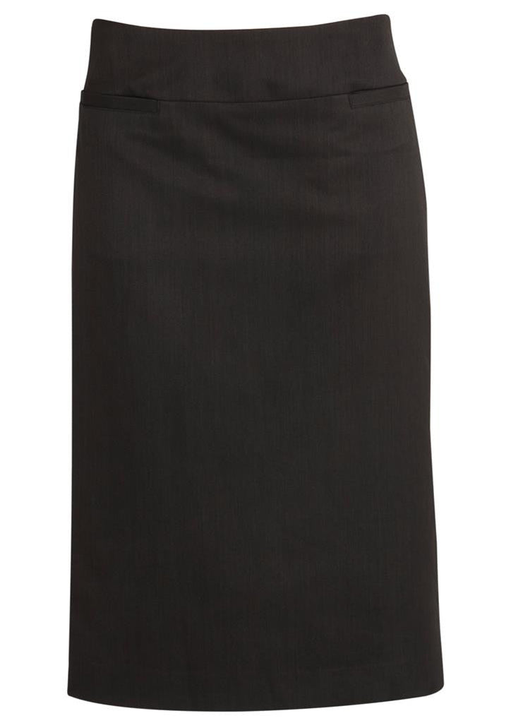 Biz Corporates-Biz Corporates Relaxed Fit Skirt-Charcoal / 4-Corporate Apparel Online - 4