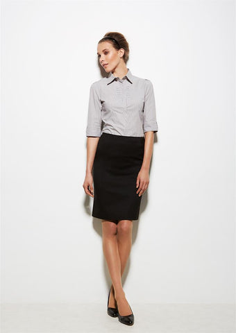 Biz Corporates-Biz Corporates Bandless Straight Skirt--Corporate Apparel Online - 1