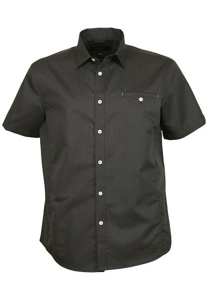 Stencil-Stencil Men's Empire Shirt (S/S)-Charcoal/Grey / S-Corporate Apparel Online - 2