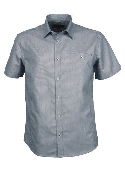 Stencil-Stencil Men's Empire Shirt (S/S)-Grey/Charcoal / S-Corporate Apparel Online - 3