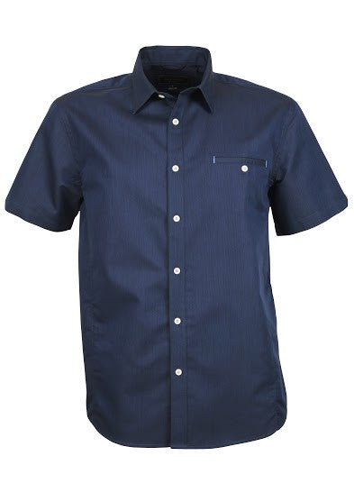 Stencil-Stencil Men's Empire Shirt (S/S)-Navy/Sky / S-Corporate Apparel Online - 4