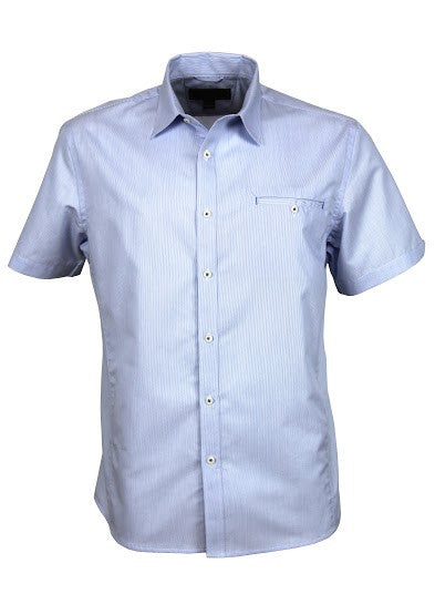 Stencil-Stencil Men's Empire Shirt (S/S)-Sky/Navy / S-Corporate Apparel Online - 5