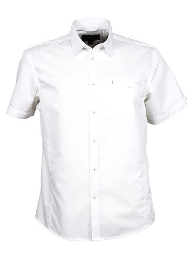 Stencil-Stencil Men's Empire Shirt (S/S)-White/White / S-Corporate Apparel Online - 1