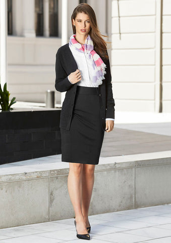 Biz Corporates-Biz Corporates Ladies Skirt with Rear Split--Corporate Apparel Online - 1