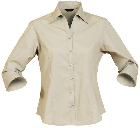 Stencil-Stencil Ladies' Nano Shirt (3/4 Sleeve)-Beige / 8-Corporate Apparel Online - 2
