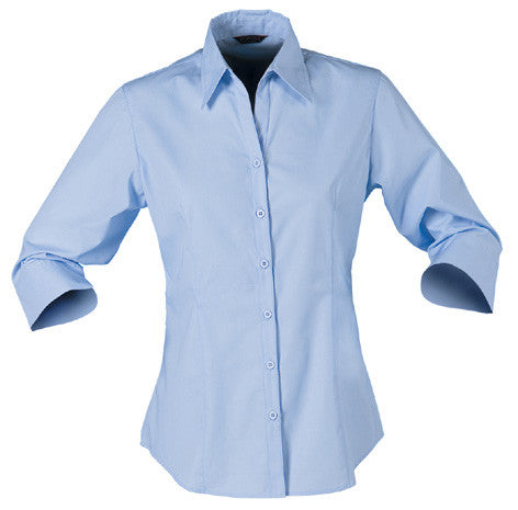 Stencil-Stencil Ladies' Nano Shirt (3/4 Sleeve)-Pale Blue / 8-Corporate Apparel Online - 3