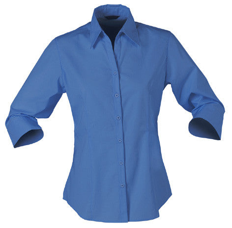 Stencil-Stencil Ladies' Nano Shirt (3/4 Sleeve)-Slate Blue / 8-Corporate Apparel Online - 4