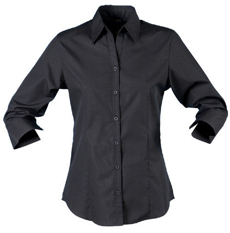 Stencil-Stencil Ladies' Nano Shirt (3/4 Sleeve)-Black / 8-Corporate Apparel Online - 6