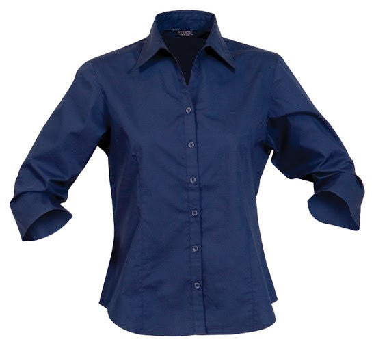 Stencil-Stencil Ladies' Nano Shirt (3/4 Sleeve)-Navy / 8-Corporate Apparel Online - 5