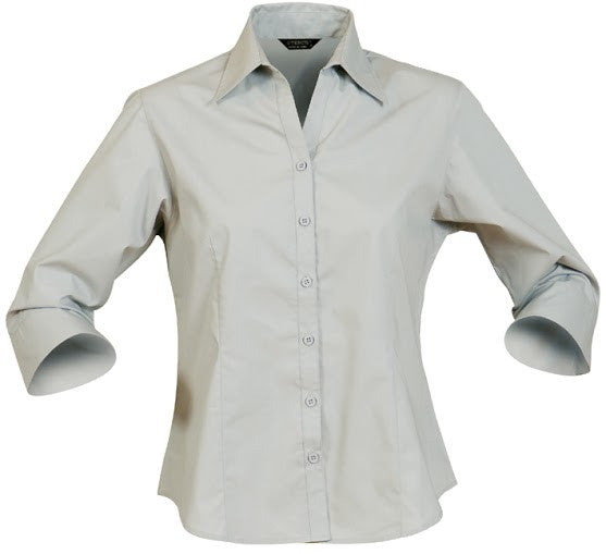 Stencil-Stencil Ladies' Nano Shirt (3/4 Sleeve)-Putty / 8-Corporate Apparel Online - 1