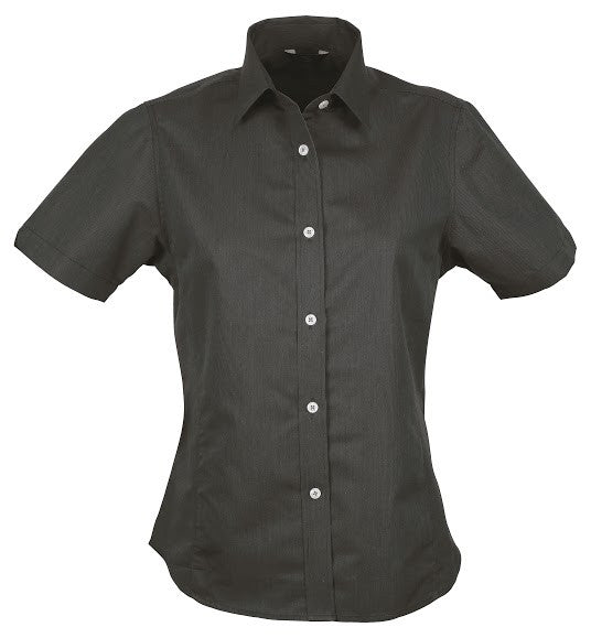 Stencil-Stencil Ladies' Empire Shirt (S/S)-Charcoal/Grey / 8-Corporate Apparel Online - 2