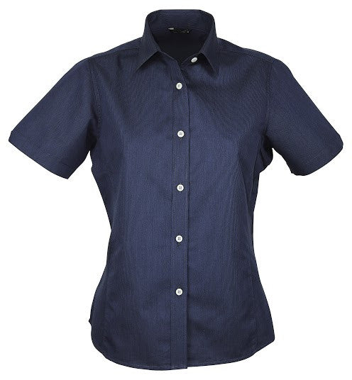 Stencil-Stencil Ladies' Empire Shirt (S/S)-Navy/Sky / 8-Corporate Apparel Online - 4