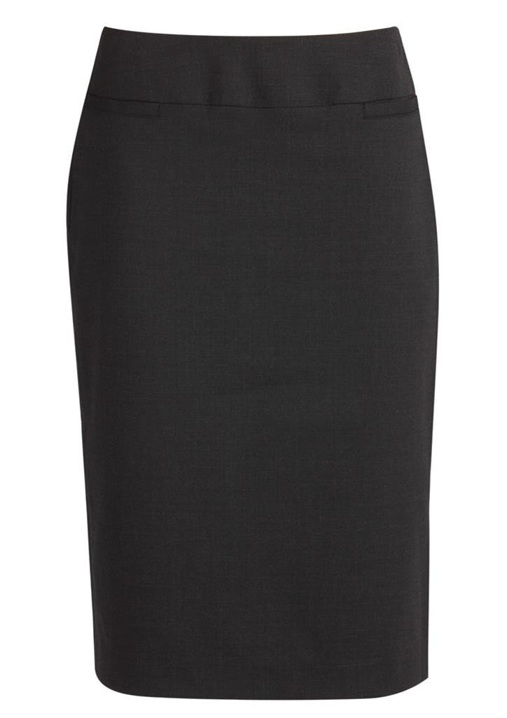 Biz Corporates-Biz Corporates Ladies Relaxed Fit Lined Skirt-Charcoal / 4-Corporate Apparel Online - 4