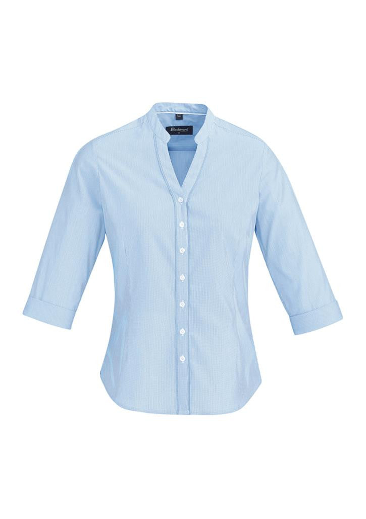 Biz Corporates-Biz Corporate Bordeaux Ladies 3/4 Sleeve Shirt--Corporate Apparel Online - 1
