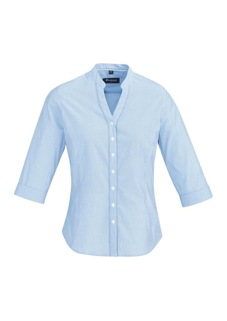 Biz Corporates-Biz Corporate Bordeaux Ladies 3/4 Sleeve Shirt-Alaskan Blue / 4-Corporate Apparel Online - 2