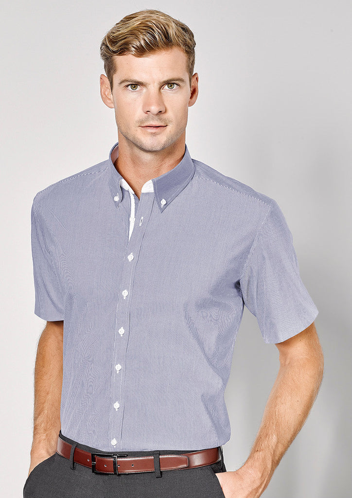 Biz Corporates-Biz Corporates Fifth Avenue Mens Short Sleeve Shirt--Corporate Apparel Online - 1