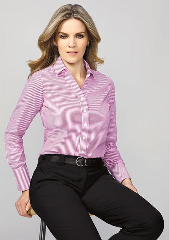 Biz Corporates-Biz Corporates Vermont Ladies Long Sleeve Shirt--Corporate Apparel Online - 1