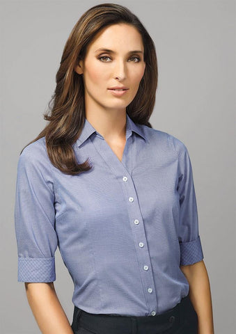 Biz Corporates-Biz Corporate Hudson Ladies 3/4 Sleeve Shirt--Corporate Apparel Online - 1