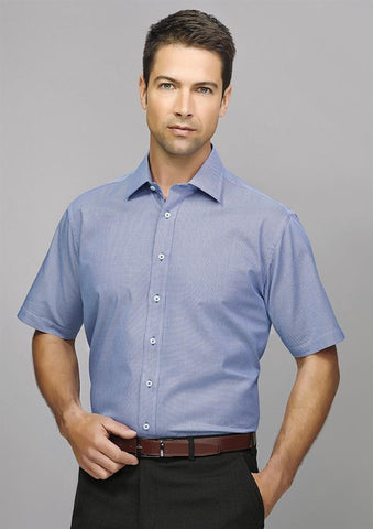 Biz Corporates-Biz Corporate Hudson Mens Short Sleeve Shirt--Corporate Apparel Online - 1