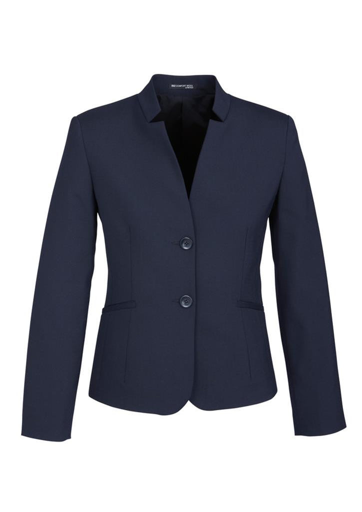 Biz Corporates-Biz Corporates Ladies Short Jacket with Reverse Lapel-Navy / 4-Corporate Apparel Online - 4