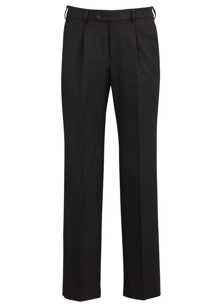 Biz Corporates-Biz Corporates One Pleat Pant Regular-Black / 77-Corporate Apparel Online - 2