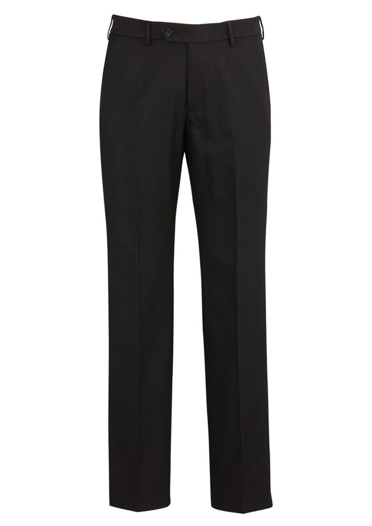 Biz Corporates-Biz Corporates Flat Front Pant Regular--Corporate Apparel Online - 1