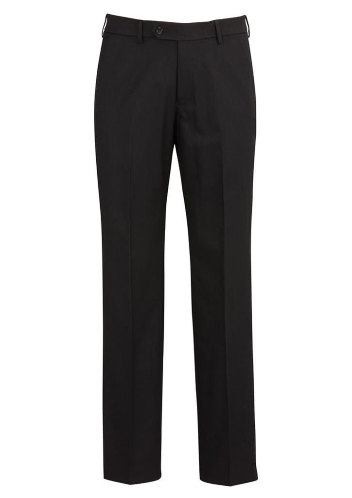 Biz Corporates-Biz Corporates Flat Front Pant Regular-Black / 77-Corporate Apparel Online - 2