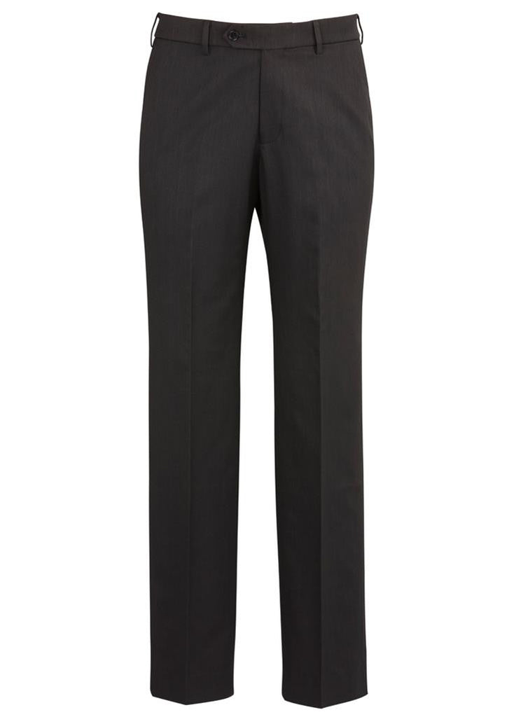 Biz Corporates-Biz Corporates Flat Front Pant Regular-Charcoal / 77-Corporate Apparel Online - 3