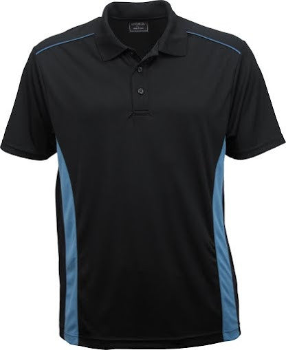 Stencil-Stencil Men's Player Polo-Black/Mid blue / S-Corporate Apparel Online - 2