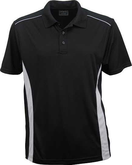 Stencil-Stencil Men's Player Polo-Black/Silver / S-Corporate Apparel Online - 1