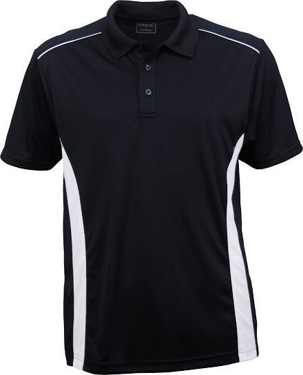Stencil-Stencil Men's Player Polo-Navy/White / S-Corporate Apparel Online - 3