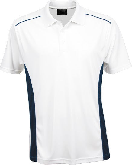 Stencil-Stencil Men's Player Polo-White/Navy / S-Corporate Apparel Online - 5