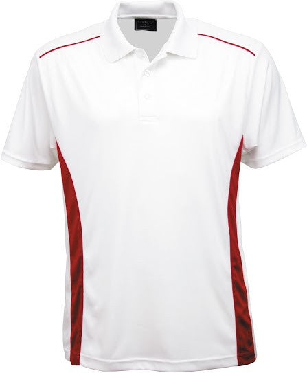 Stencil-Stencil Men's Player Polo-White/Red / S-Corporate Apparel Online - 6