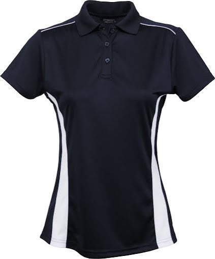 Stencil-Stencil Ladies' Player Polo-Navy/White / 8-Corporate Apparel Online - 3