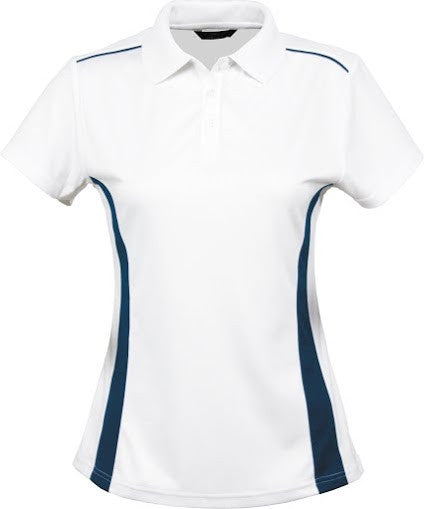 Stencil-Stencil Ladies' Player Polo-White/Navy / 8-Corporate Apparel Online - 5