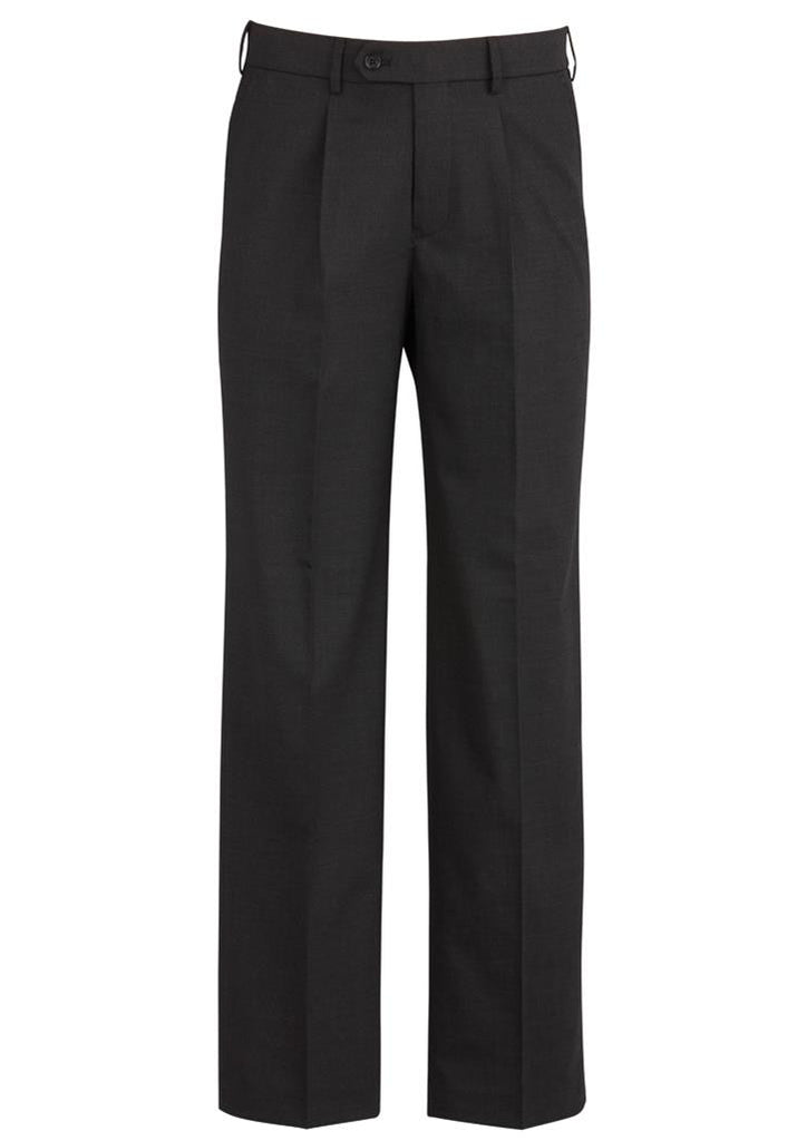 Biz Corporates-Biz Corporates One Pleat Pant Regular-Charcoal / 77-Corporate Apparel Online - 4