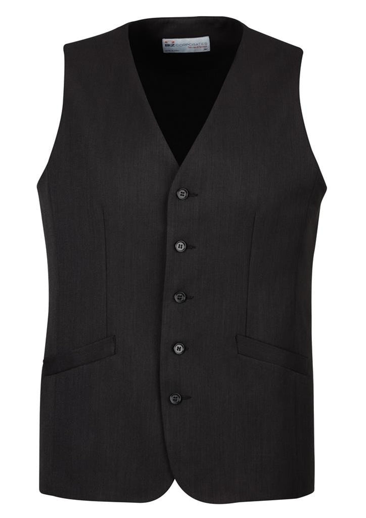 Biz Corporates-Biz Corporate Men's Longline Vest-Black / 87-Corporate Apparel Online - 2