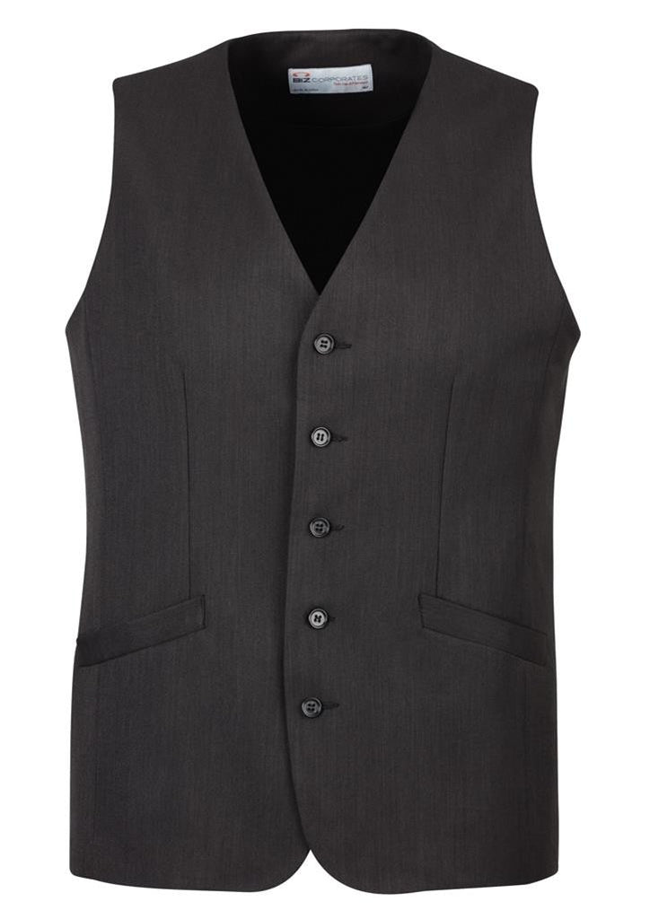 Biz Corporates-Biz Corporate Men's Longline Vest-Charcoal / 87-Corporate Apparel Online - 4