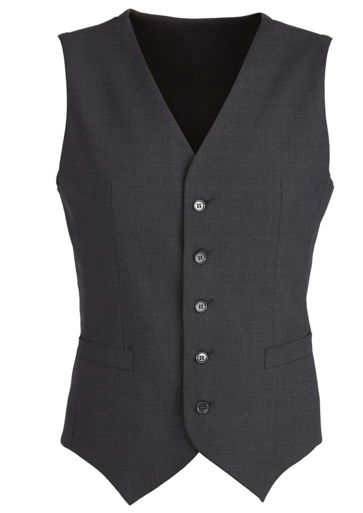 Biz Corporates-Biz Corporates Men's Peaked Vest with Knitted Back-Charcoal / 87-Corporate Apparel Online - 3