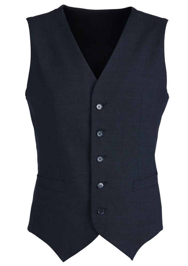 Biz Corporates-Biz Corporates Men's Peaked Vest with Knitted Back-Navy / 87-Corporate Apparel Online - 4