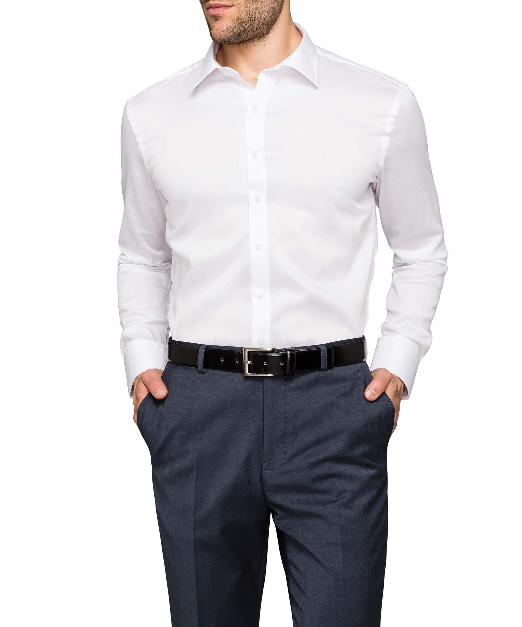 Van Heusen Mens 100 Cotton Dobby Slim Fit Shirt As505