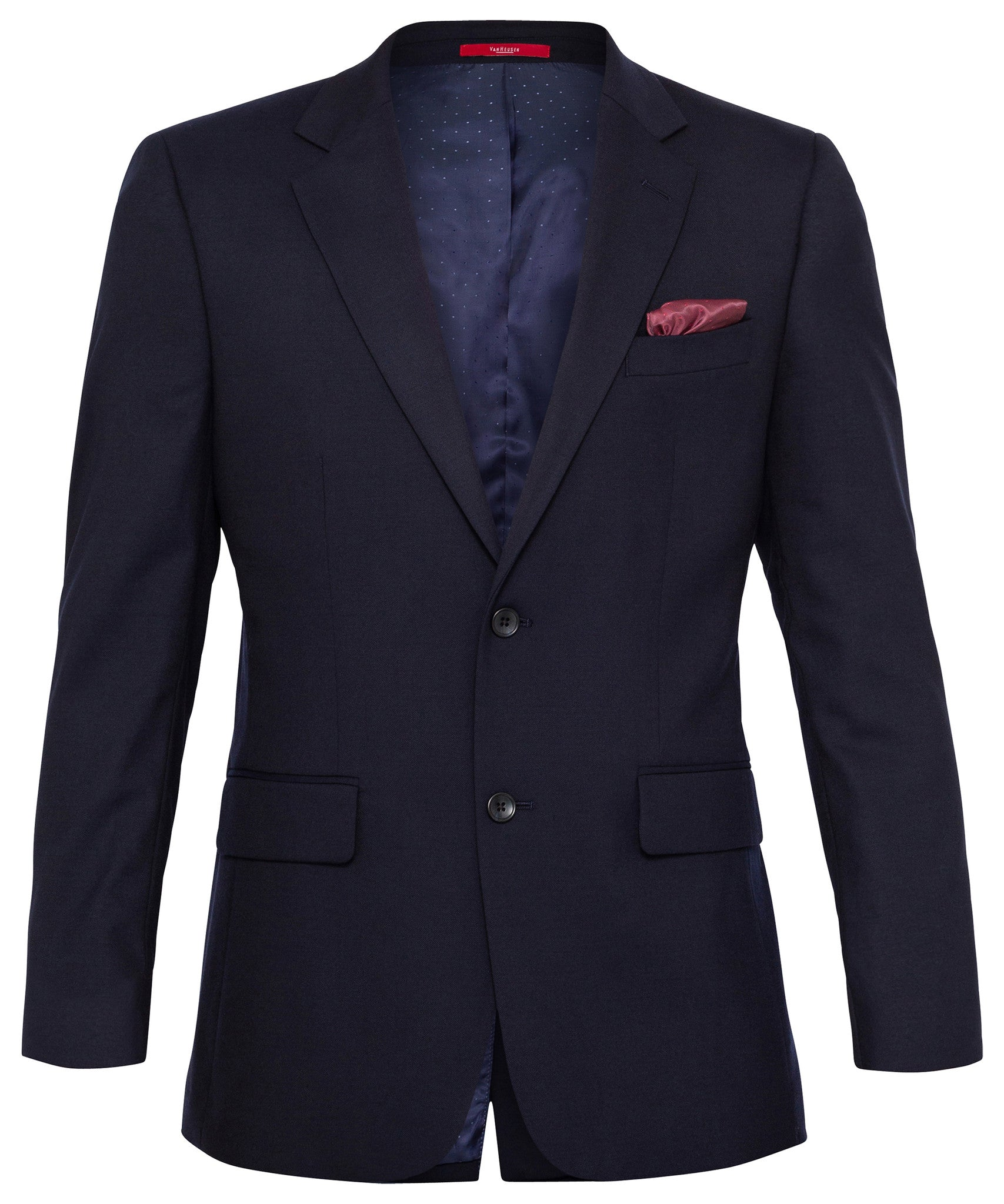 Van Heusen Wool Blend Navy Twill Suit Jacket With Move Technology