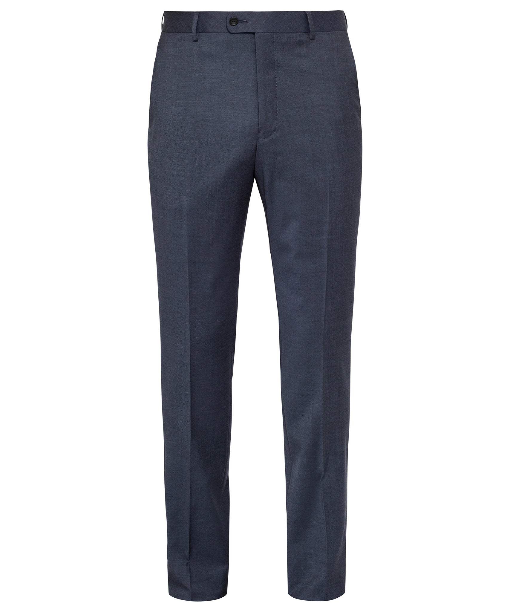 Ven Heusen Wool Blend Ink Nail Head Flat Front Trouser With Move Technology