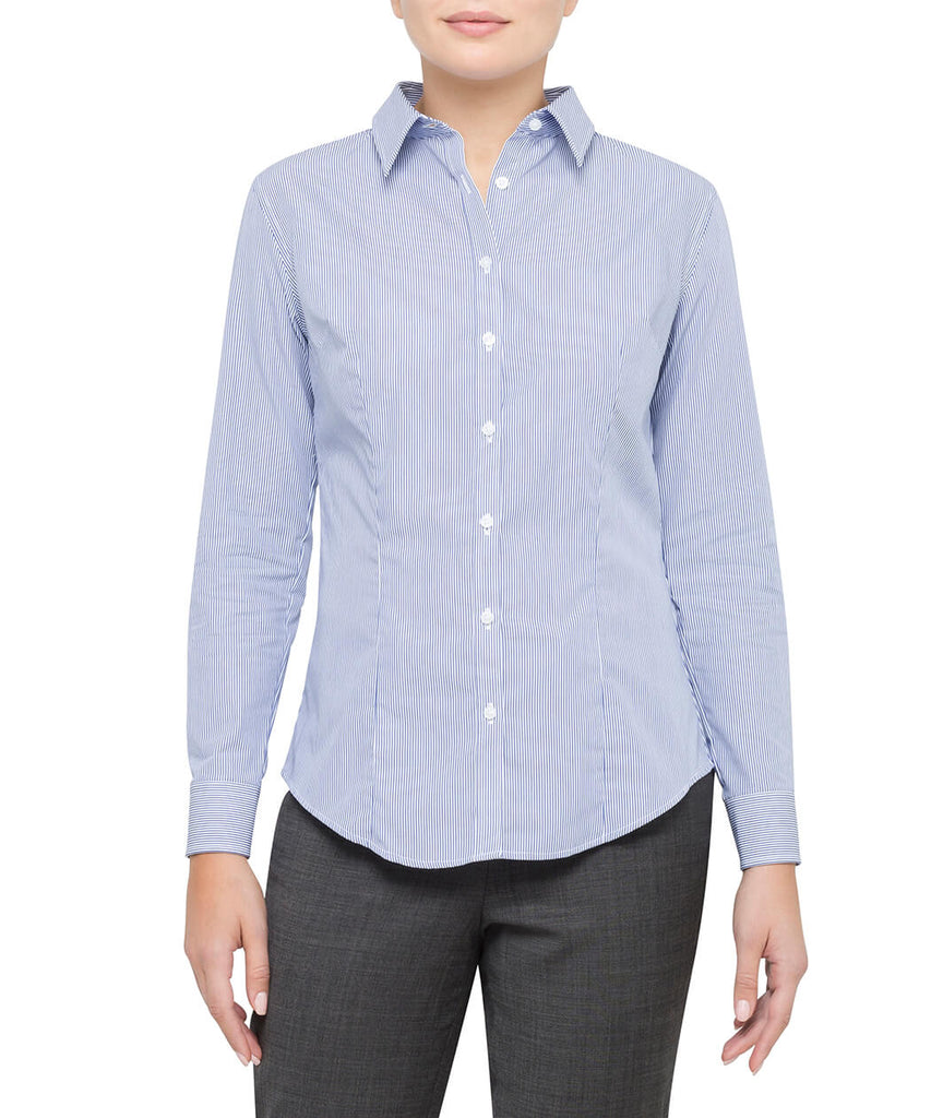 Van Heusen Women'S Classic Fit Shirt 100% Premium Cotton Stripe (AWLB501)