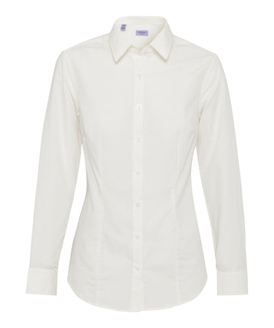 Van Heusen-Van Heusen Cotton Polyester Poplin Classic Fit Shirt-6-AB / IVORY-Corporate Apparel Online