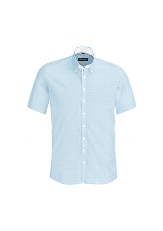 Biz Corporates-Biz Corporates Fifth Avenue Mens Short Sleeve Shirt-Alaskan Blue / XS-Corporate Apparel Online - 2