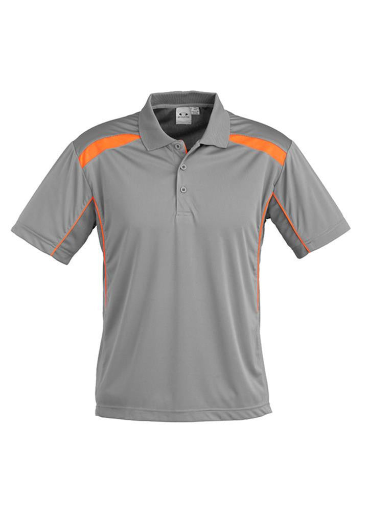 Biz Collection-Biz Collection Mens United Short Sleeve Polo 1st ( 11 Colour )-Ash / Fluro Orange / Small-Corporate Apparel Online - 2