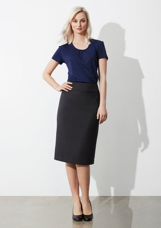 Biz Collection Ladies Classic Below Knee Skirt (BS29323)
