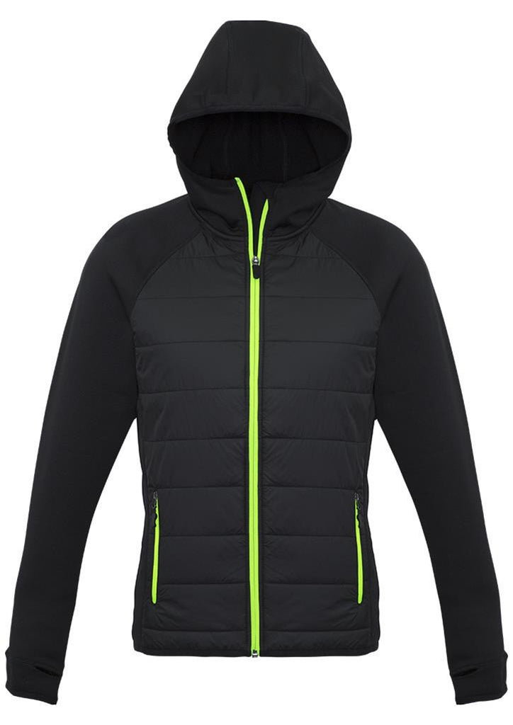Biz Collection-Biz Collection Ladies Stealth Tech Hoodie-Black/Lime / XS-Corporate Apparel Online - 2